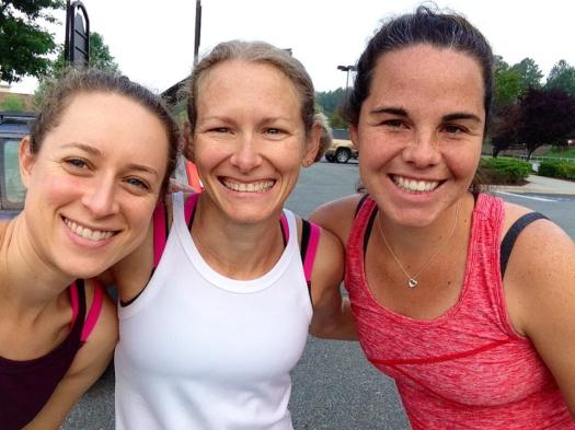 Allison, Ali, me pre-run (thanks for your selfie-skills, Allison!)