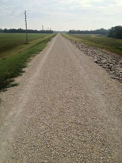 my favorite trail of all time: the Levee Trail in Salina, KS. So peaceful and open.